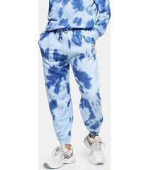 petite blue tie dye sweatpants - blue