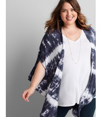 lane bryant women's livi tie-dye overpiece 22/28 club navy