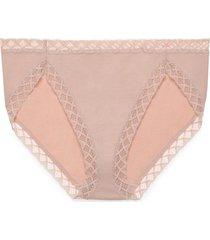 natori bliss french cut brief panty, women's, 100% cotton, size m