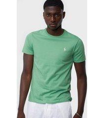 polo ralph lauren polo short sleeve t-shirt t-shirts & linnen pistachio