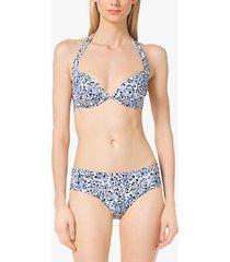 mk reggiseno bikini con stampa floreale - navy (blu) - michael kors