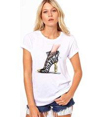 camiseta coolest salto musical branco - branco - feminino - dafiti