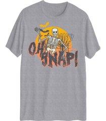 hybrid men's spooky oh snap short sleeve t-shirt