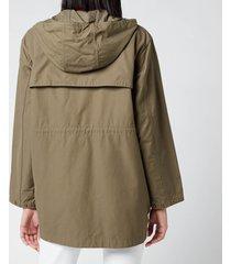 barbour x alexa chung women's blanche casual jacket - khaki/dress gordon - uk 8