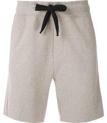 osklen ribbed straight shorts - neutrals