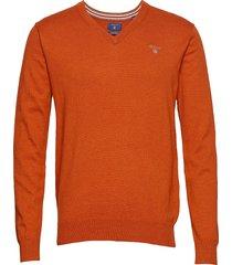 cotton wool v-neck gebreide trui v-hals oranje gant