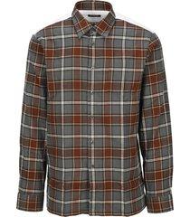 raf simons checked shirt