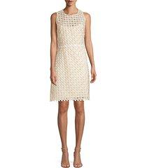 rosaleen embroidered basket weave dress