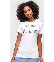 camiseta colcci don't panic it's organic feminina - feminino