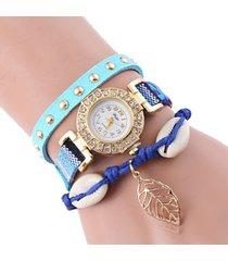 reloj azul sasmon re-17401