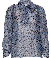 jadyn blouse lange mouwen blauw munthe