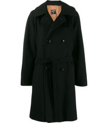 jean paul gaultier pre-owned 1990's wide-sleeve coat - black