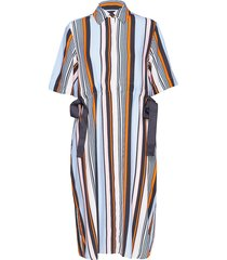 byatt drape striped shirt dres jurk knielengte multi/patroon french connection