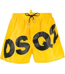 dsquared2 dsq2 print swim shorts - yellow