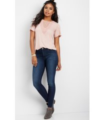 everflex high rise dark stretch skinny jeans