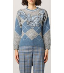 alberta ferretti sweater alberta ferretti sweater with maxi inlay