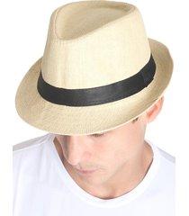 chapéu panamá unissex aba curta - amarelo - praaiah