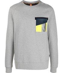 raeburn raf hi-vis pocket crew-neck sweatshirt - grey
