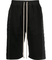 rick owens drkshdw panelled bermuda shorts - black