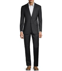 classic-fit pinstripe wool suit