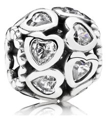 charm corações de amor