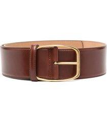 dolce & gabbana oval buckle belt - brown