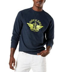 dockers men's regular-fit logo-print sweatshirt, created for macy's