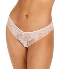 dkny women's soft tech lace thong dk4051