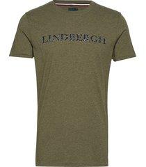 melange flock tee t-shirts short-sleeved grön lindbergh