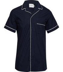 tahiti shirt overhemd met korte mouwen blauw les deux