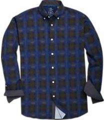 construct blue geometric sport shirt