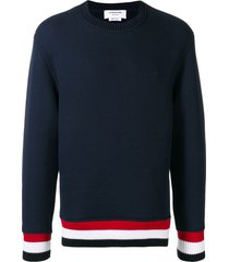 thom browne oversized chunky loopback pullover - blue