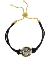 alexander the great leather bracelet