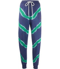 m missoni tie dye track trousers - blue