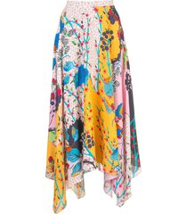 saloni multi-pattern skirt - multicolour