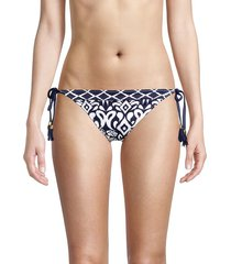 tommy bahama women's ikat diamond reversible bikini bottom - navy - size s