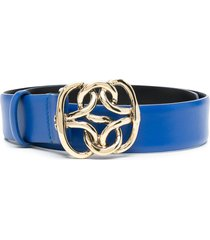 alberta ferretti twisted-buckle belt - blue