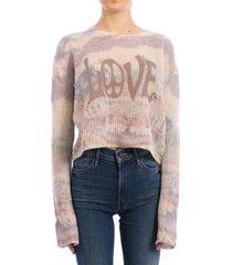 amiri tie-dye cashmere sweater