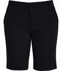 shorts pau a pique básico de sarja preto