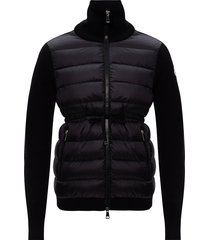 down jacket front sweater