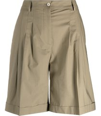 piazza sempione high-waisted bermuda shorts - neutrals