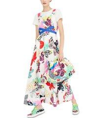weekend max mara sleeveless printed dress
