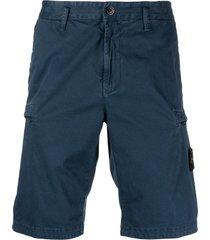 stone island classic bermuda shorts - blue
