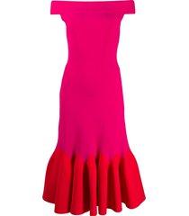 alexander mcqueen mid-length evening dress - red