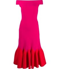 alexander mcqueen mid-length evening dress - red