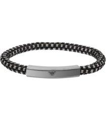 emporio armani men's stainless steel id bracelet