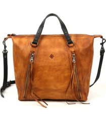 old trend mossy creek leather tote bag