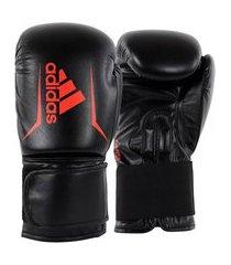 luva de boxe adidas speed 50 v2 preta e vermelho