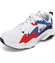 tenis lifestyle blanco-azul-rojo reebok royal turbo impulse