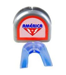 protetor bucal duplo com estojo américa .